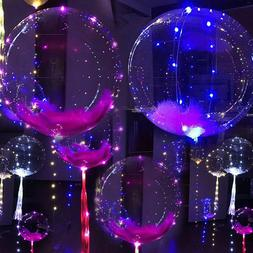 LED Light UP Balloons Party Balloon Graduation Birthday Wedd