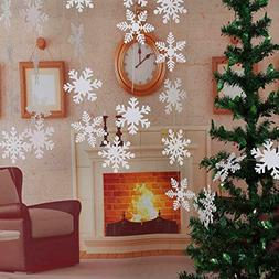 LeeSky Christmas Party Decorations,27Pcs Glittery White Snow