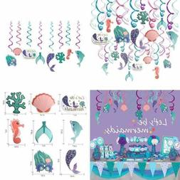 Let's Be Mermaids 30Pcs 1 Pack Of Mermaid Party Decorations