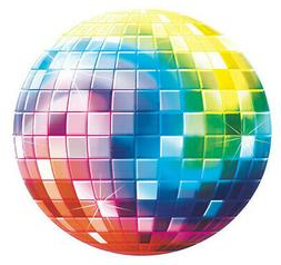 LET'S BOOGIE 70s DISCO BALL cardstock CUTOUT DECORATION 1970
