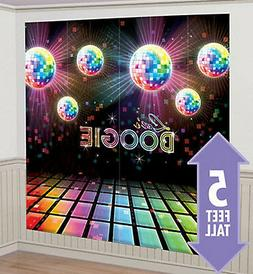 LET'S BOOGIE Scene Setter 1970s party wall decor birthday di