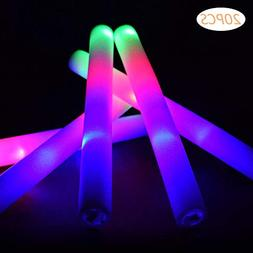 Taotuo 20 PCS LED Light Up Foam Sticks Three Modes Color Cha