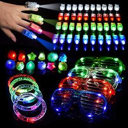 60PCs LED Light Up Toys Glow in The Dark Party Supplies, The