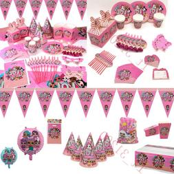 LOL Surprise Birthday Party Kids Girls Supplies Tableware De