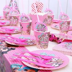 LoL Surprise Doll Birthday Theme Party Supplies Tableware Ki