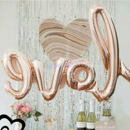 LOVE Shape Foil Balloon Birthday Wedding Party Anniversary D