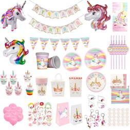 MAGICAL UNICORN Kids Birthday Party Tableware Set Paper Box
