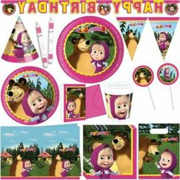 MASHA AND THE BEAR Party Supplies Decoration Birthday Tablew
