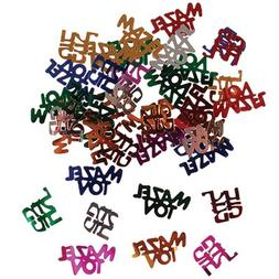 Multicolored Mazel Tov in Hebrew & English Confetti, Jewish