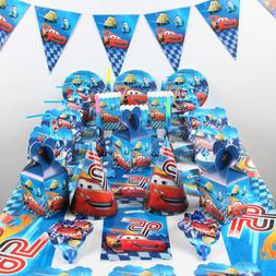 Mcqueen Cars Theme Boys Birthday Party Kids Supplies Tablewa