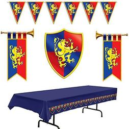 Medieval Party Decorations - Cardboard Herald Trumpets and C