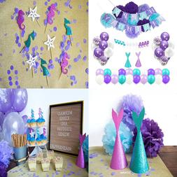 Mermaid Birthday Party Supplies & Decorations For Girls 64 P