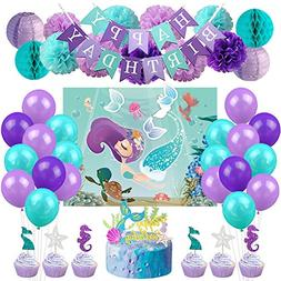 KREATWOW Mermaid Party Decorations Kit Under The Sea Party S