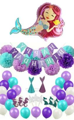 Mermaid Party Pack Decorations Under the Sea Birthday Party