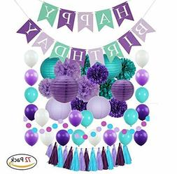 Mermaid Party Supplies and Under the Sea Decorations for Gir