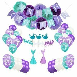 Mermaid Party Supplies Decorations for Girls Baby Shower Bri