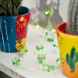 Mexican Fiesta Tropical Decoration Mini Cactus Fairy String