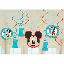 Mickey's Fun To Be One Foil Swirl Decorations