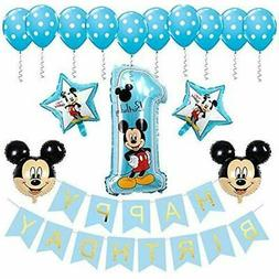 Mickey GrownUp Toys Mouse 1st Birthday Decorations Banner-Ba