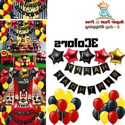 Mickey Mouse Birthday Party Supplies Party Decorations Banne