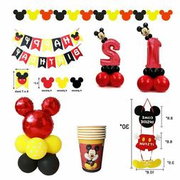 Mickey Mouse Kids Happy Birthday Party Decoration Kits Banne