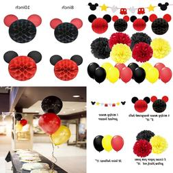 Mickey Mouse Party Decorations YELLOW BLACK RED Birthday Gar
