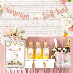 Mimosa Bar Sign But First Mimosas Banner Boho Floral Bridal