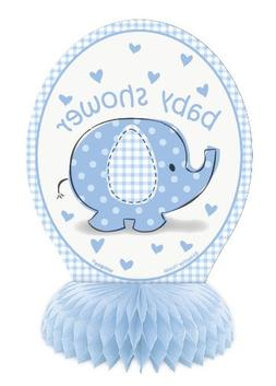 "6"" Mini Blue Elephant Boy Baby Shower Decorations, 4ct"