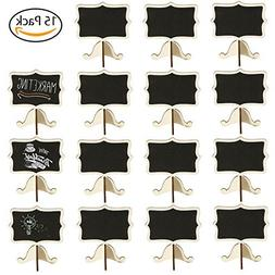 Leyaron 15 Pack Mini Chalkboards Place Cards with Easel Stan