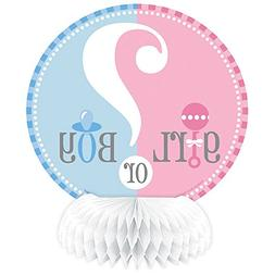 "6"" Mini Gender Reveal Centerpiece Decorations, 4ct"