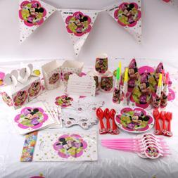 Minnie Mouse Birthday Party Supplies Favor Kids Tableware De