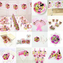 Minnie Mouse Girls Birthday Party Supplies Favor Kids Tablew
