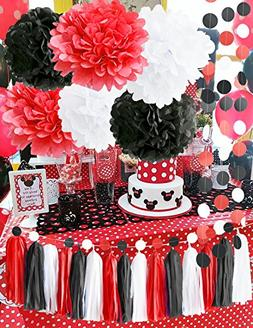 Minnie Mouse Party Supplies White Black Red Baby Ladybug Bir