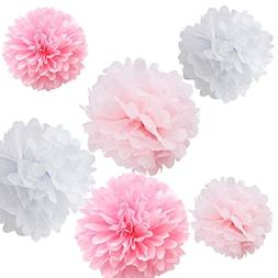 mixed 8 tissue paper pom