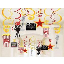 Stechop Movie Night Party Supplies, Hanging Swirl Decoration
