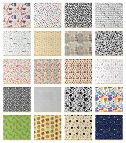 Ambesonne Music Fabric by the Yard Decorative Upholstery Hom