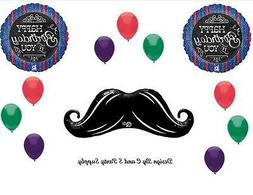 MUSTACHE CHALKBOARD BIRTHDAY PARTY BALLOONS Decorations Supp