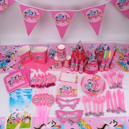 My Little Pony Girls Theme Tableware Favor Kids Birthday Par