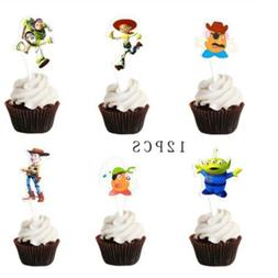 NEW 12pcs/pack Toy Story Cake Toppers <font><b>Kids</b></fon