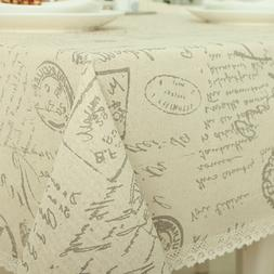 New Arrival European TableCloth Letter Printing Tablecloths