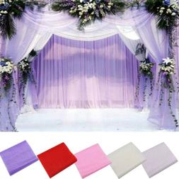 New Crystal Tulle Fabric Organza DIY Craft for Wedding Party