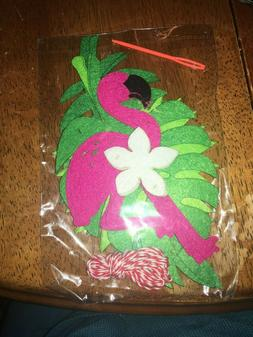 NEW Flamingo & Leaves Hanging Garland Bunting Banner Luau Pa