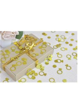 NEW Fecedy Glittery Gold Ring Confetti for Wedding party dec