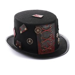 New Men Women Steam Punk Style Hat Fashion Cosplay Dome Bowl