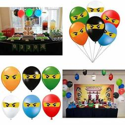 Ninjago Birthday Party Supplies Decorations Balloons 36Pcs F