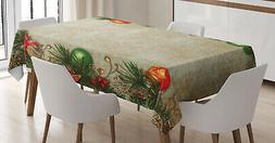 Noel Pattern Tablecloth Ambesonne 3 Sizes Rectangular Table