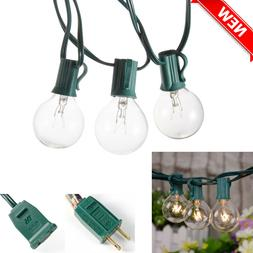 Outdoor Globe String Lights 25ft G40 Waterproof Patio Bulbs