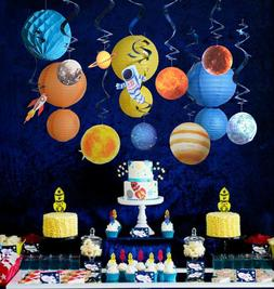 Outer space theme party supply kit swirl party decoration pl