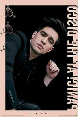 panic at the disco brendon pink border