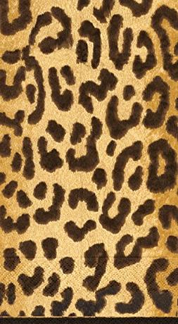 Hand Towels Paper Guest Leopard Animal Print Party Supplies
